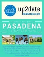 Pasadena Home Sales 1st Quarter 2016